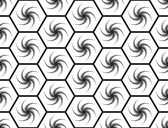 Design seamless monochrome hexagon geometric pattern — Stock Vector