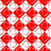 Design seamless red hearts pattern — Stock Vector