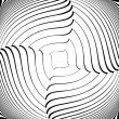 Постер, плакат: Design monochrome vortex movement illusion background