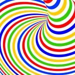 Постер, плакат: Design colorful vortex movement illusion background