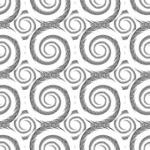 Design seamless monochrome spiral pattern — Stock Vector