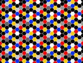 Design seamless colorful mosaic hexagon pattern — Stockvektor