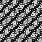 Design seamless monochrome diagonal decorative pattern — Stockvector
