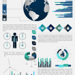 High quality business infographic elements — Stock Vector