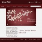 Website template in editable vector format — Stock Vector #28164743