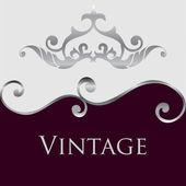 Vintage floral frame. Element for design — Stock Vector