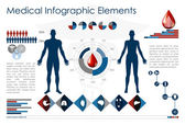 Medical infographic elements — Cтоковый вектор