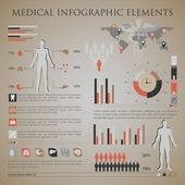 Medical infographic elements — Stok Vektör