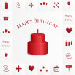Happy birthday texture — Stock Vector