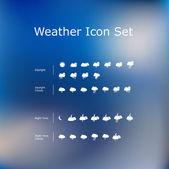Weather Icon Set. — Stock Vector