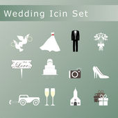 Wedding icons set. — Stock Vector