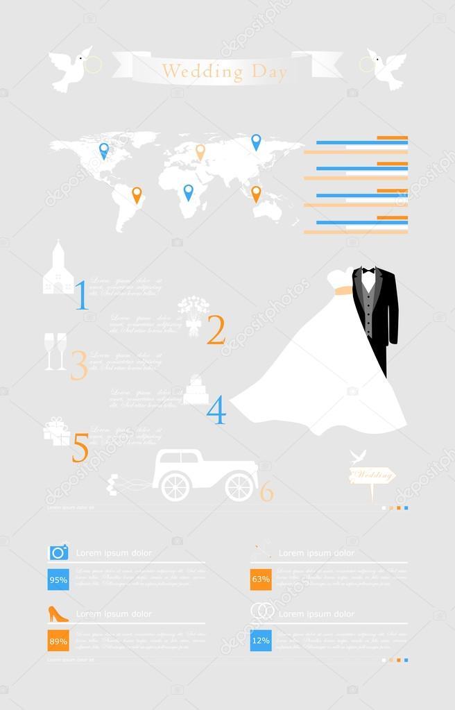 Wedding infographic icons
