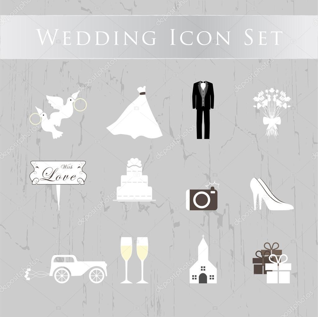 свадебные иконки: