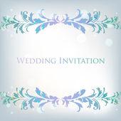 Bröllopsinbjudan — Stockvektor
