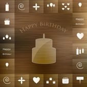 Doğum günü partisi öğeleri — Stok Vektör