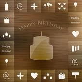 Elementos de la fiesta de cumpleaños — Vector de stock