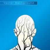 Brain tree illustration — Stock Vector