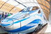 Pendolino left side wroclaw poland first time — Stock Photo