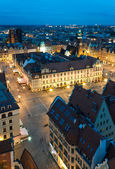 Wroclaw's Main Square (Poland) at night — Stock Photo