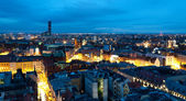 Wroclaw's cityscape (Poland) at night — Stock Photo