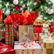 Many Gifts Under the Tree — Stockfoto