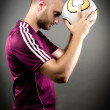 Close to the Ball — Stock Photo