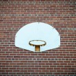 Stock Photo: Old Basketball Net on Brick Wall