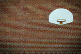 Old Basketball Net on Brick Wall — Stock Photo