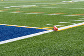 Artificial turf and endzone — Stock Photo