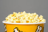 Top of a bucket of popcorn — Stock Photo