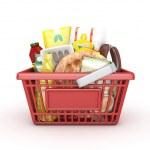 Red shopping ramadan basket -3D rendered — Stock Photo #26541473