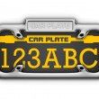 Royalty-Free Stock Photo: 3D Car Plate isolated