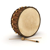 Ramadan drum 3D Rendered Isolated — Stock Photo