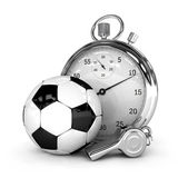 Soccer concept Chronometer isolated 3d rendered — Stock Photo