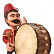 3D Traditional Ramadan Drummer and drum — Stock Photo #42928583