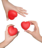 Heart in palms — Stock Photo