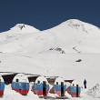 View of mount Elbrus from the mountain shelter Bochky — Stock Photo #36591797