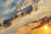 Sun in cloudy sky — Stock Photo