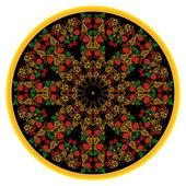 Kwiecisty ornament czarny — Wektor stockowy