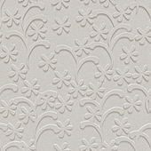 White, textured background, floral, seamless, 3d — Stock Photo