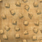 3d background, wooden blocks, seamless — Stock Photo