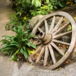 Stock Photo: Garden Wooden Wheel