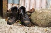 Lavoro stivali — Foto Stock