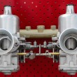 Twin Carburetor — Stock Photo
