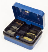 Blue Cash Box — Stock Photo