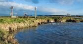 Floodway pumpe arbeiten — Stockfoto