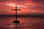 Red Cross Sunset — Stock Photo