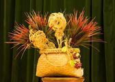 Flax Phant Basket — Stock Photo