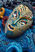 Colorful Maori Carved Face — Stock Photo