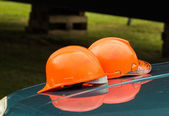 Two Safety Hats — Stock Photo
